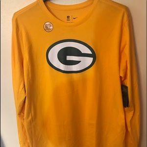 Greenbay packers long sleeve dri fit nfl apperal